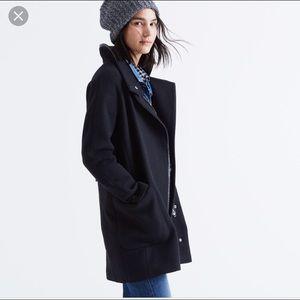 Madewell City Grid Leather Trim Jacket: Size 00